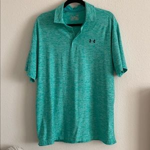 Loose fit men's under armour polo large